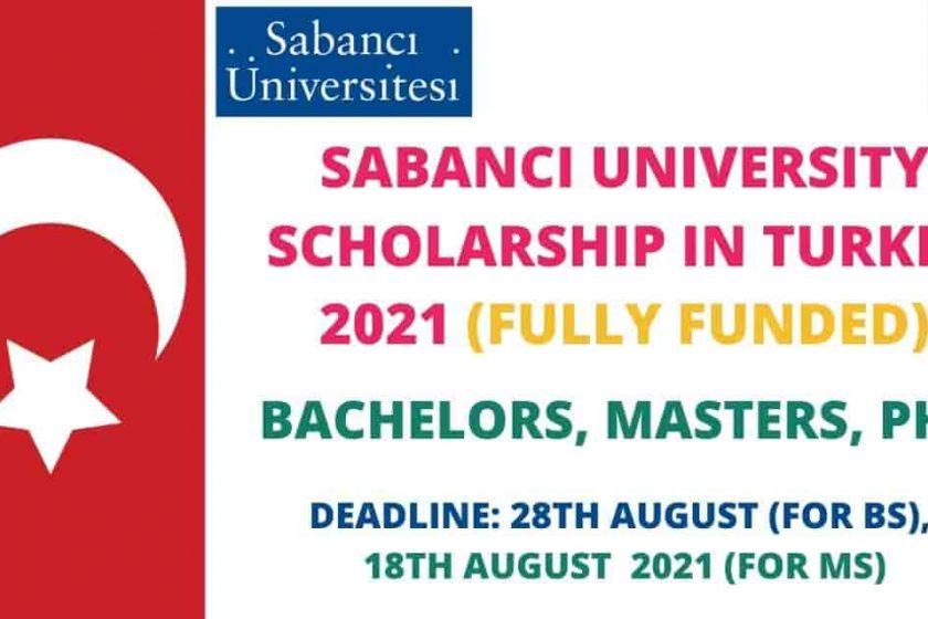 Sabanci University Scholarship 2021 in Turkey   Funded