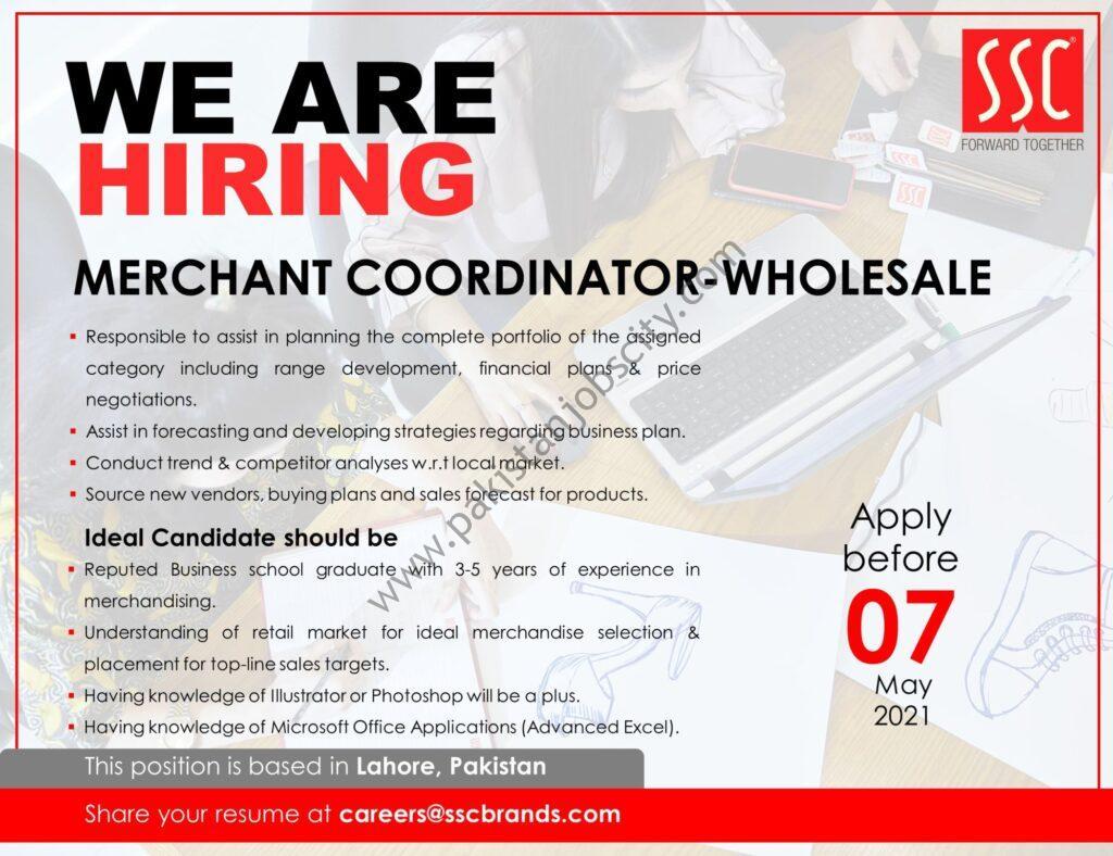 Service Sales Corporation Pvt Ltd SSC Jobs Merchant Coordinator Wholesales