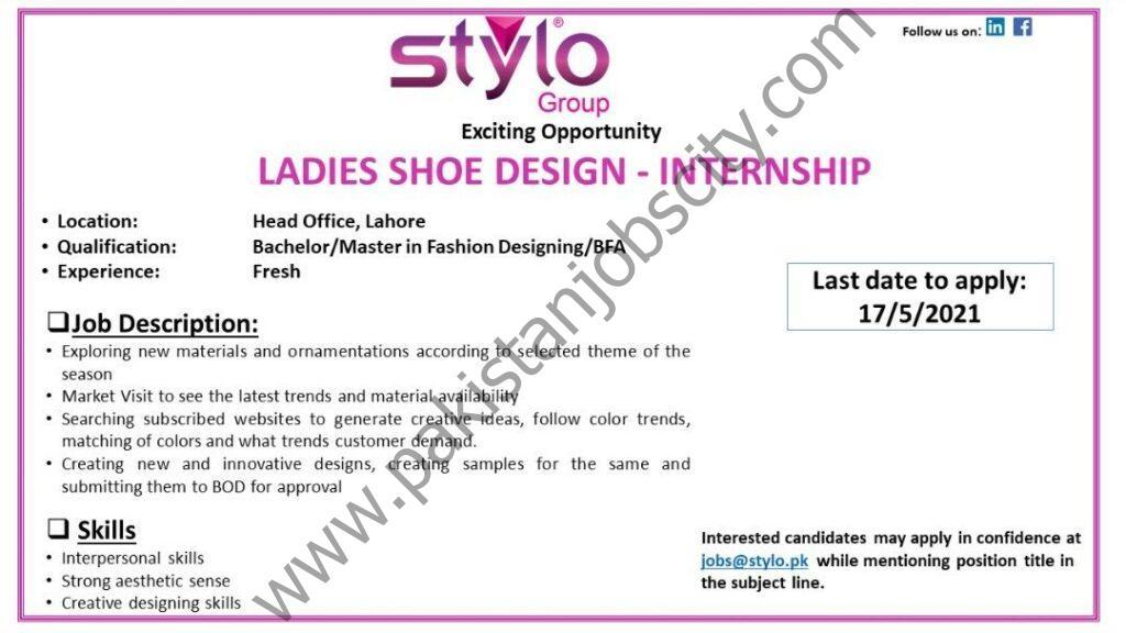 Stylo Pvt Ltd Internship May 2021