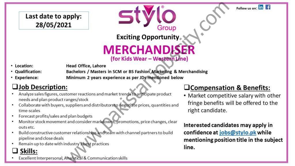 Stylo Pvt Ltd Jobs Merchandiser