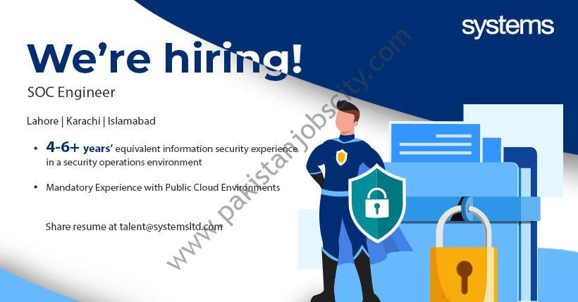 Systems Ltd Jobs SOC Engineers