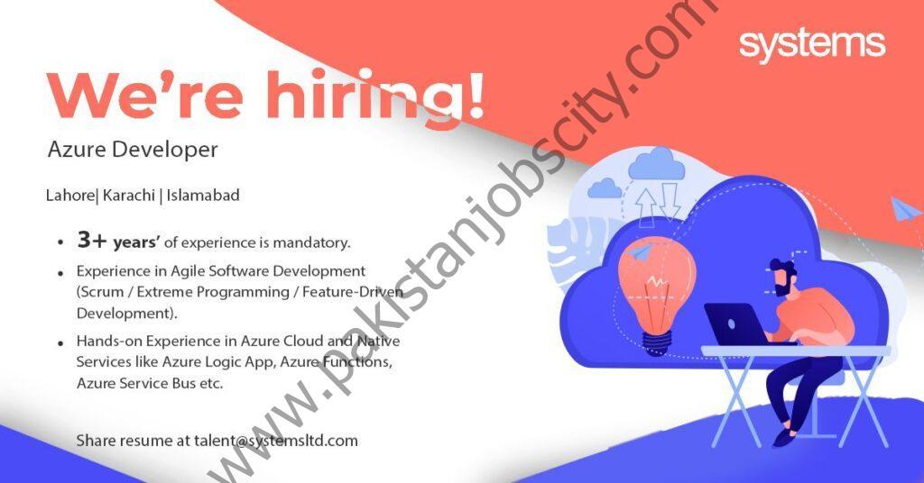 Systems Ltd Jobs Azure Developers