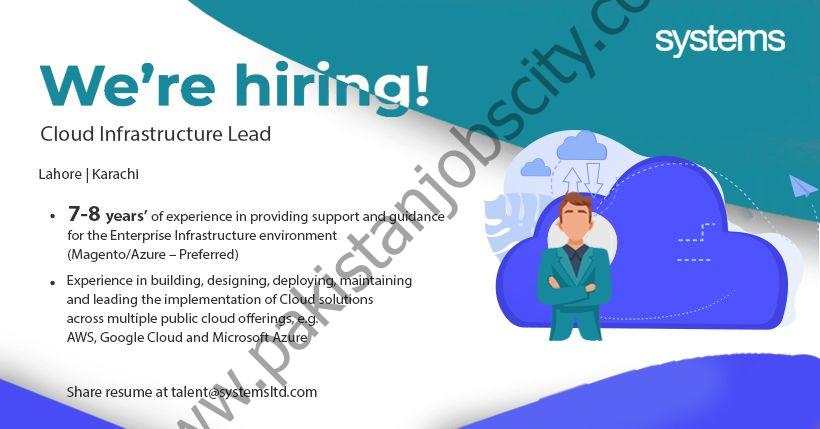 Systems Ltd Jobs Cloud Infrastructure Lead