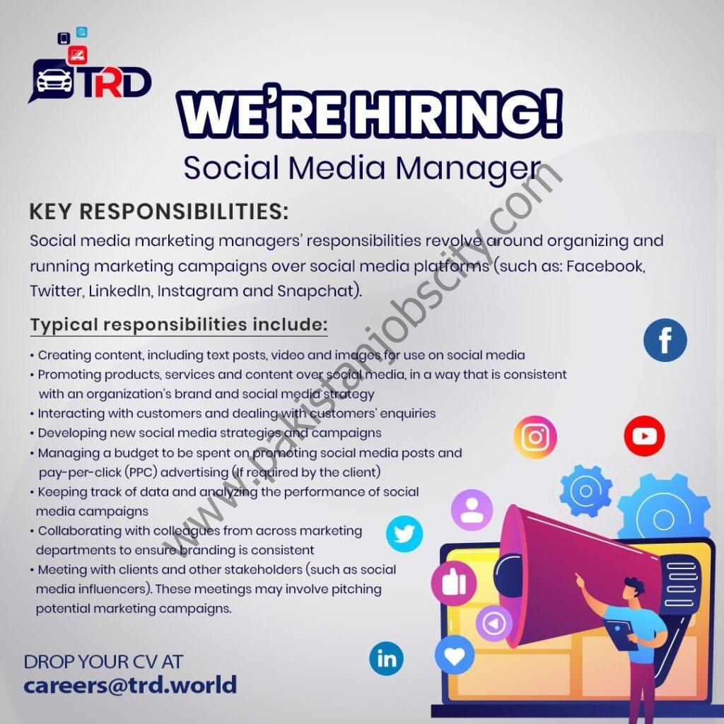 TRD Pvt Ltd Jobs May 2021