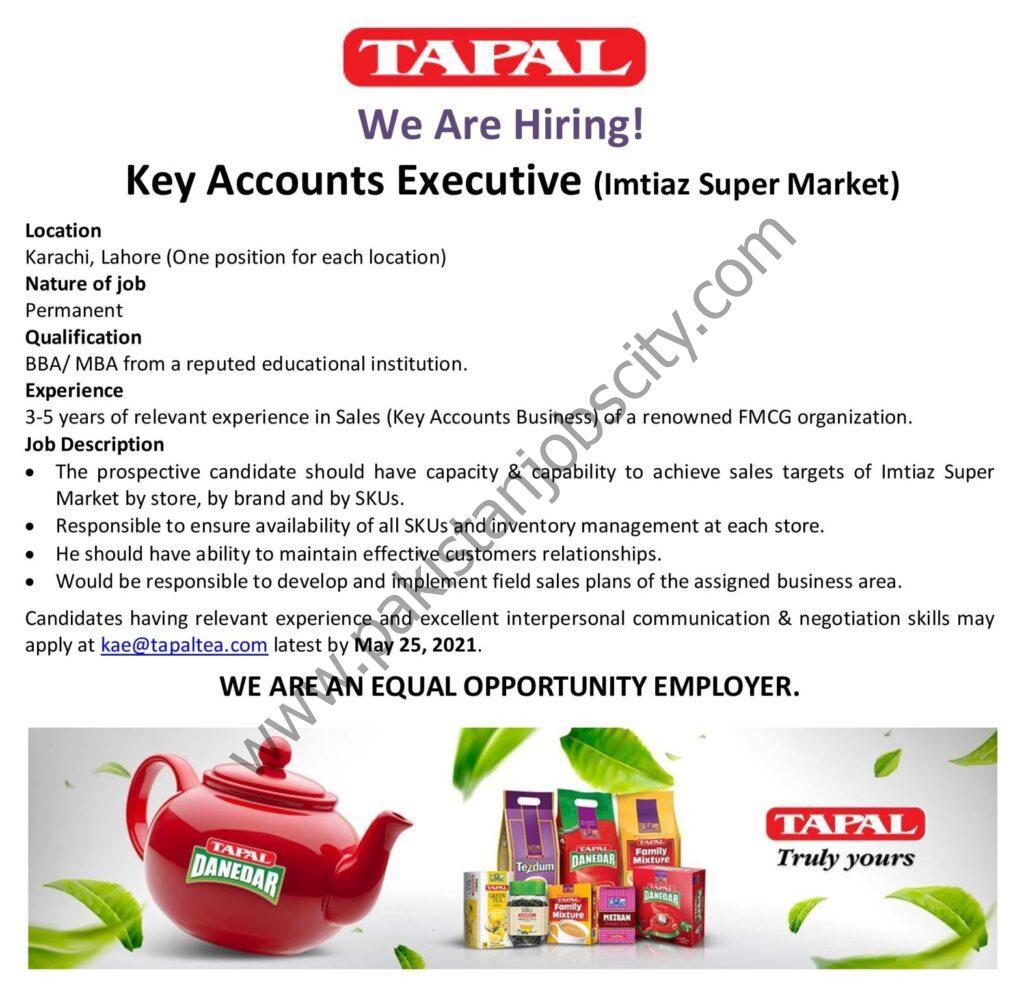 Tapal Tea Pvt Ltd Jobs Key Accounts Executive