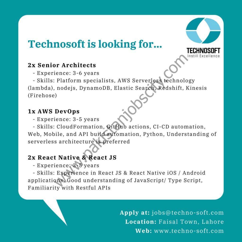 Technosoft Jobs June 2021