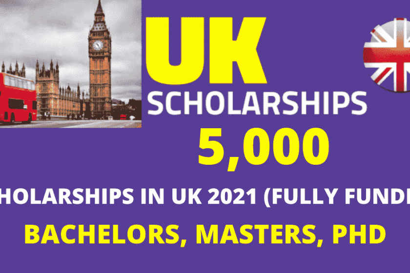The New 5,000 Scholarships in UK 2021 | Fully Funded