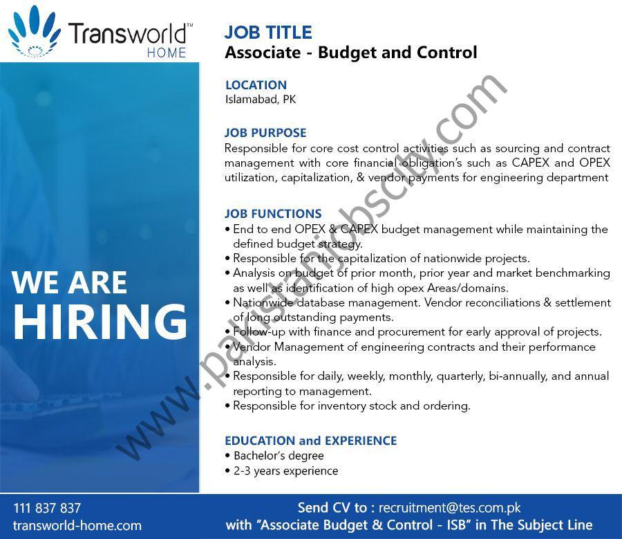 Transworld Home Jobs May 2021