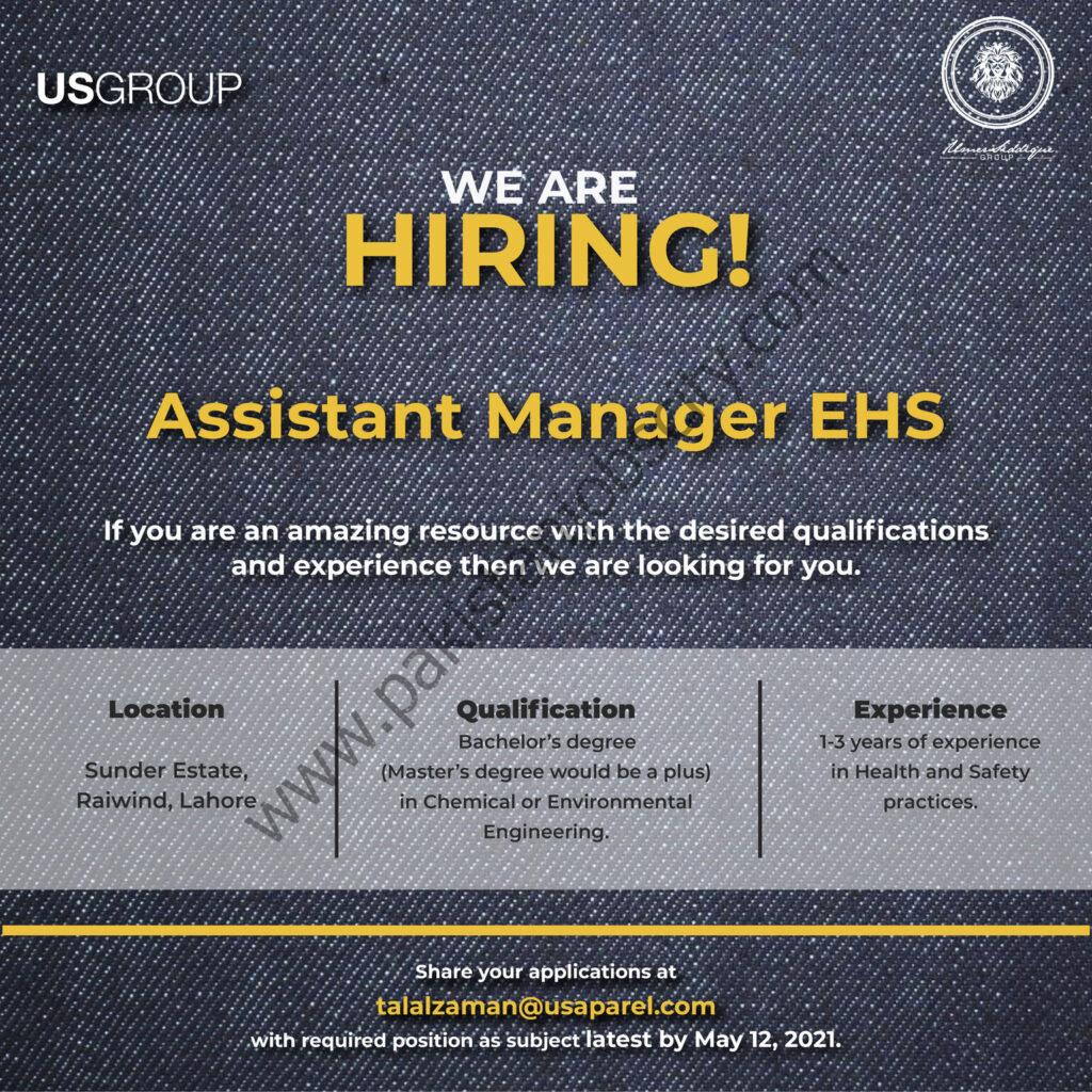 US Group Jobs Assistant Manager EHS
