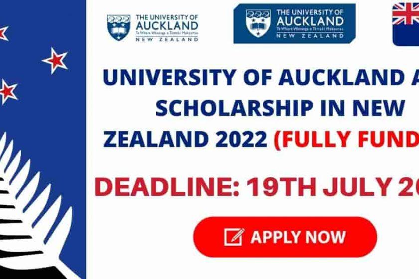 University of Auckland ADB Scholarship in New Zealand 2022 | Fully Funded