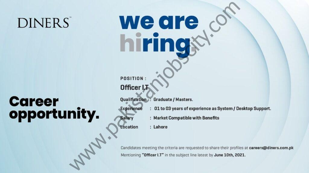 Diners Pakistan Jobs Officer IT