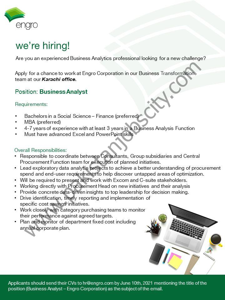 Engro Corporation Jobs Business Analyst