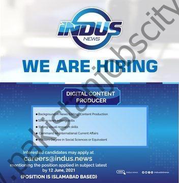 Indus News Jobs Digital Content Producer