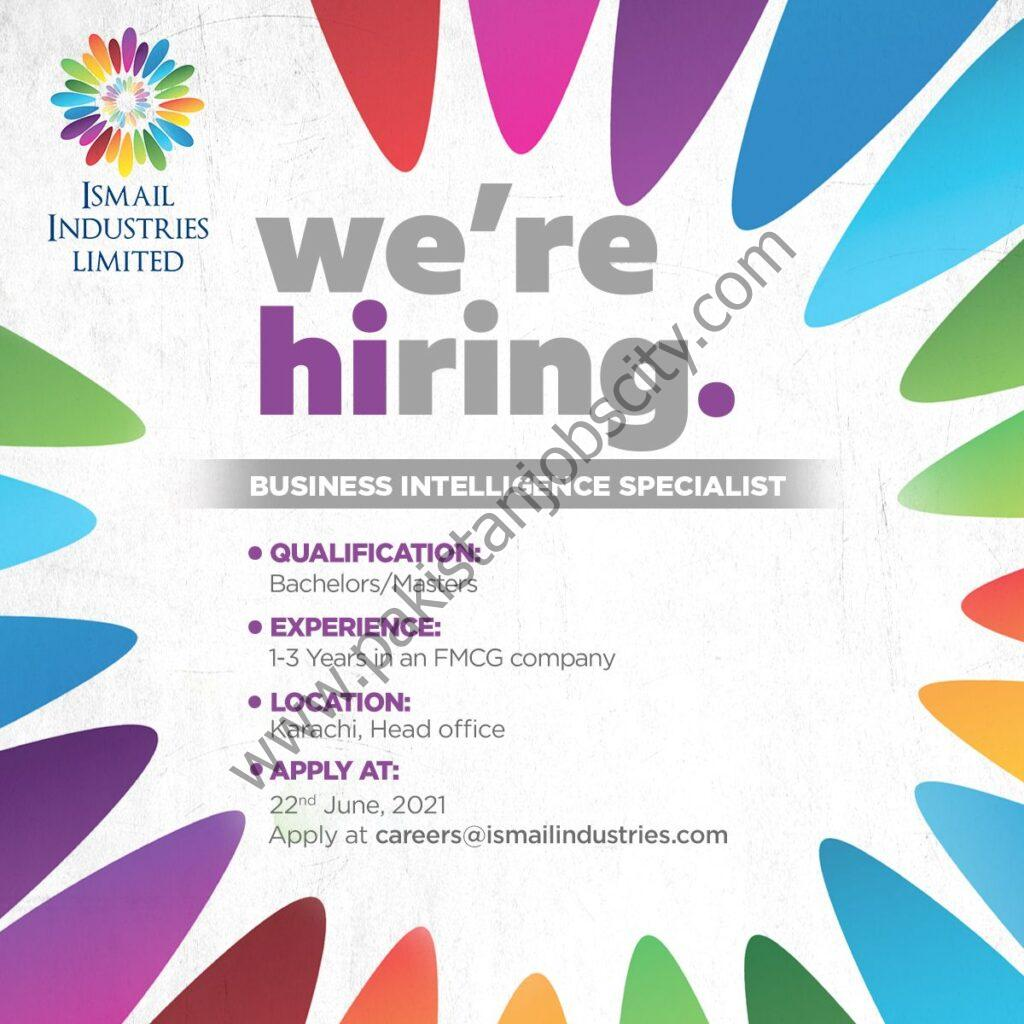 Ismail Industries Limited Jobs Business Intelligence Specialist