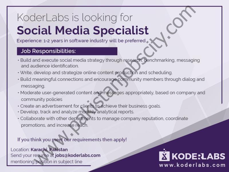 Koder Labs Jobs Social Media Specialist