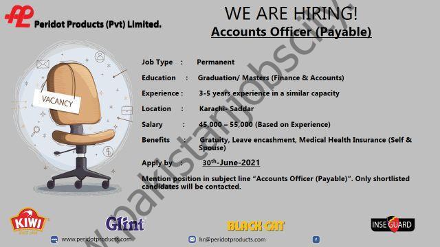 Peridot Products Pvt Ltd Jobs Accounts Officer Payable