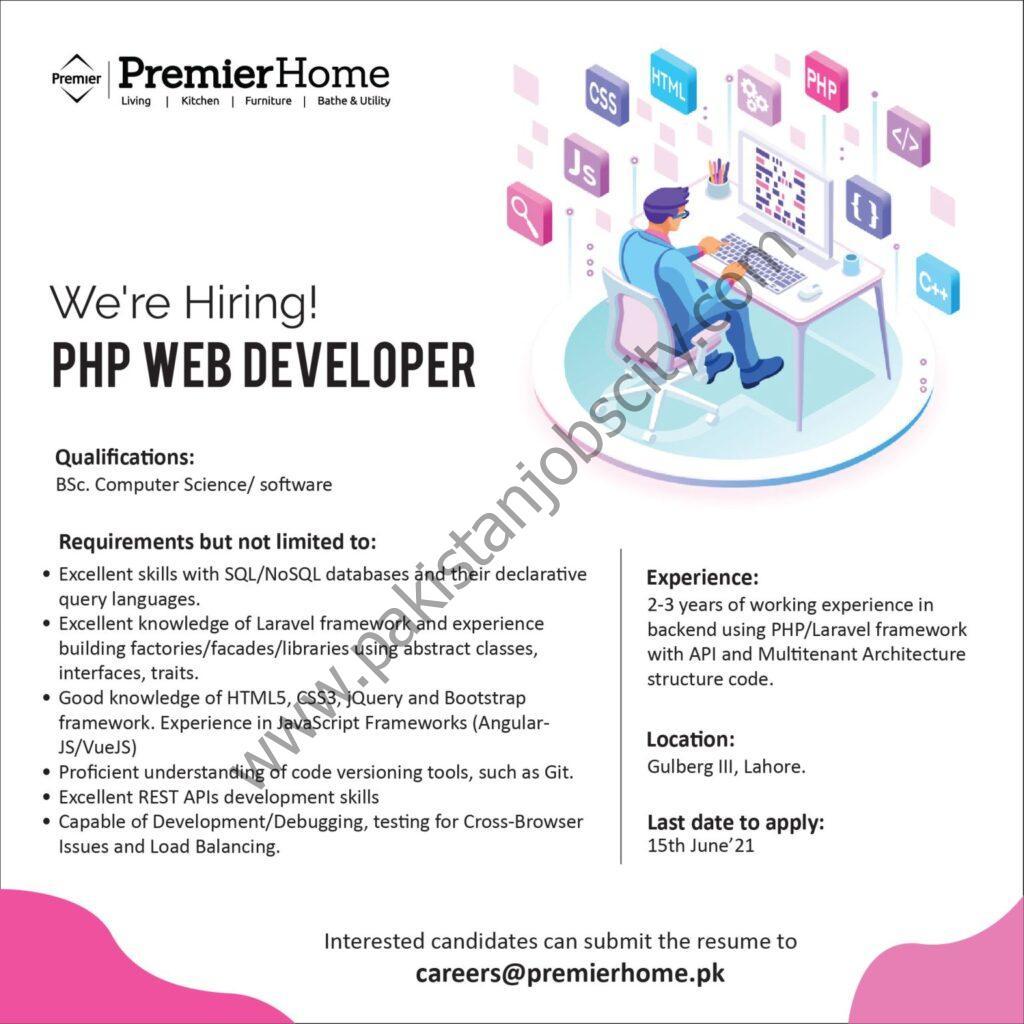 Premier Home Jobs PHP Web Developer
