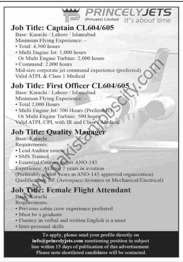 Precious Jets Jobs 06 June 2021 Dawn