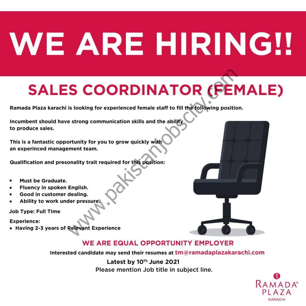 Ramada Plaza Jobs Sales Coordinator