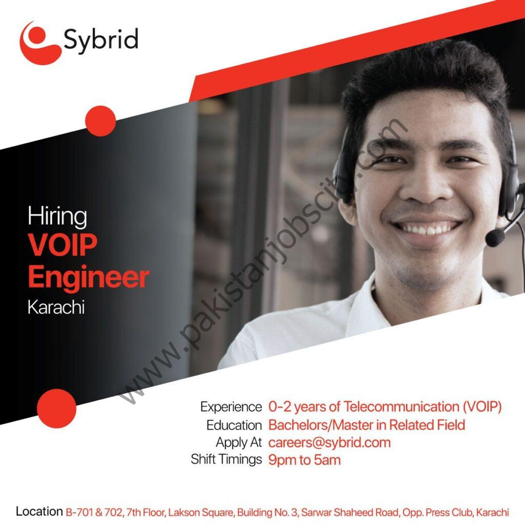 Sybrid Pvt Ltd Jobs VOIP Engineer