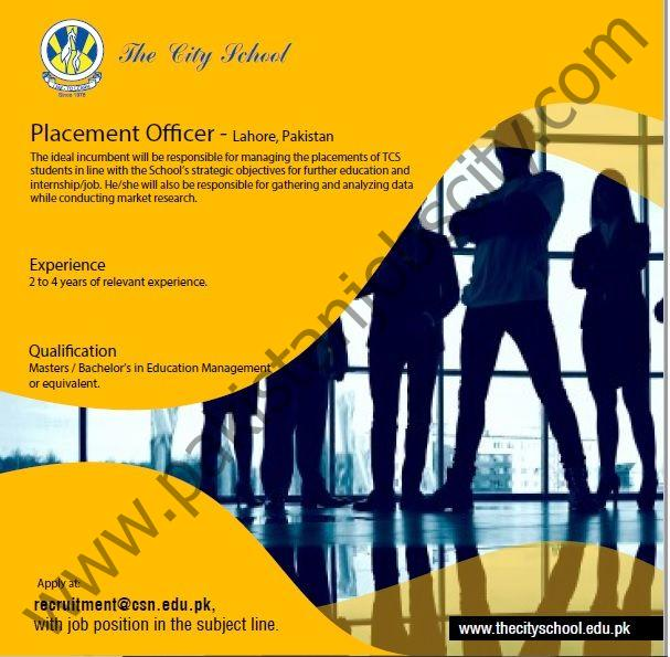 The City School Jobs Placement Officer