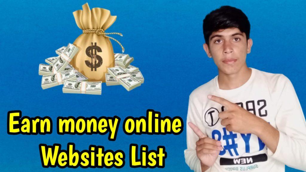 Earn Money Online Websites List - Top Online Earning Websites
